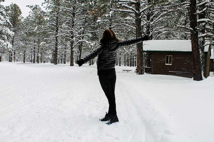упражнения на снегу