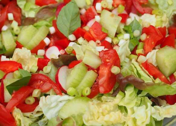 салат легкий на ужин