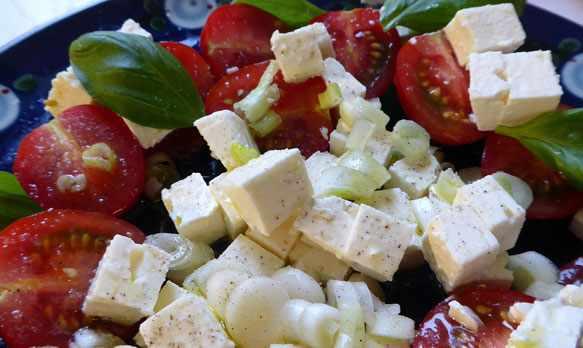 Салаты низкокалорийные с сыром фета