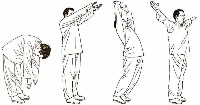 Упражнение Цигун — Поддерживание Луны