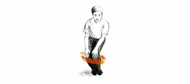Разминка для коленей