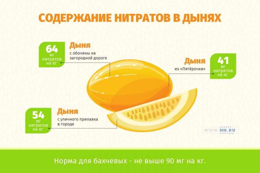 Содержание нитратов в дынях