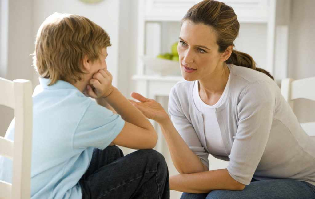 Поговорите с ребенком