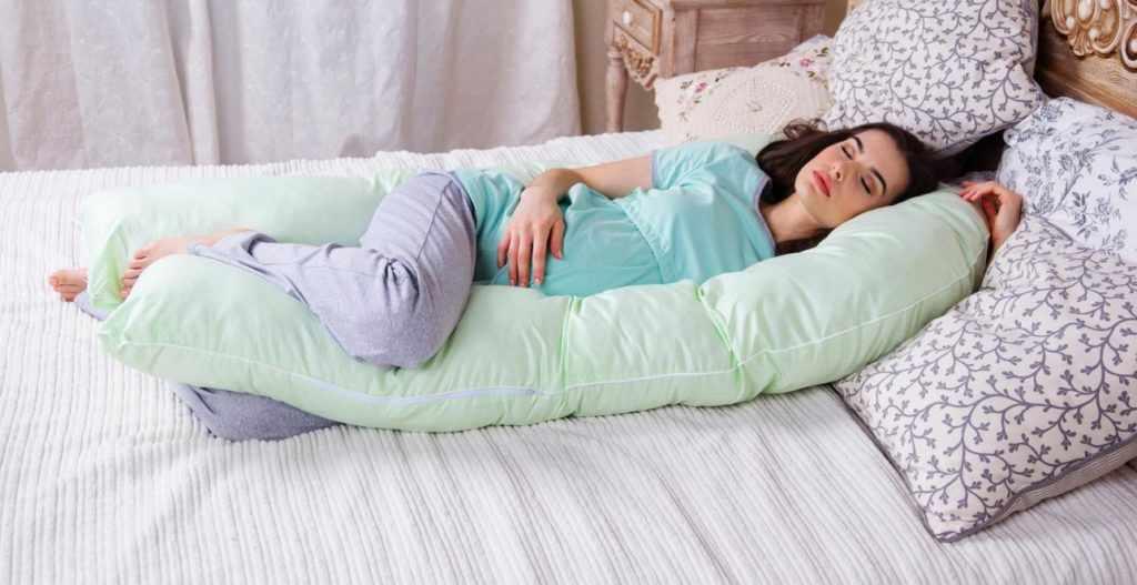 Беременна спит