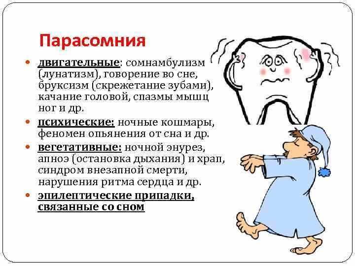 Виды парасомии