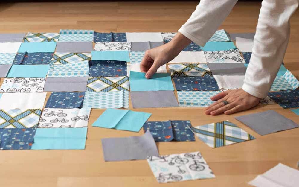 Раскладка узора для одеяла