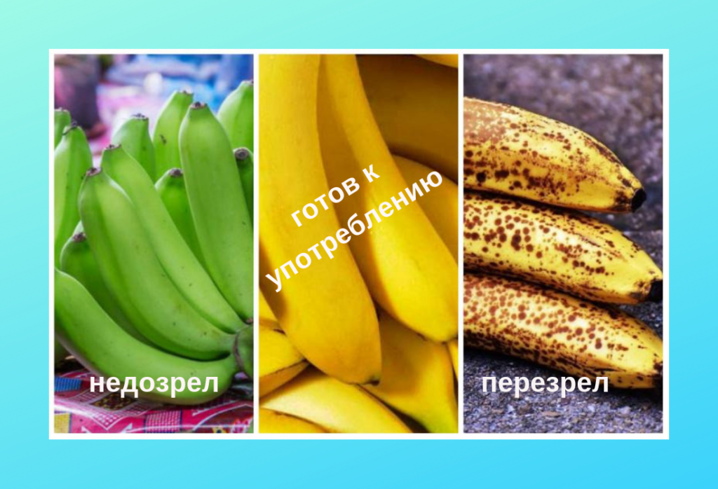 Степень зрелости банана
