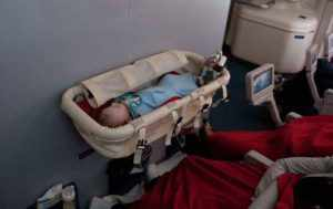 Детская люлька в самолет